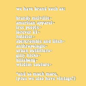 Brandy Melville Other - HUGE SALE!🌈 CLOSET CLOSING!🌈